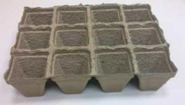 Durpinė daigykla 12 narelių (kvadratinių) 7.5x8cm