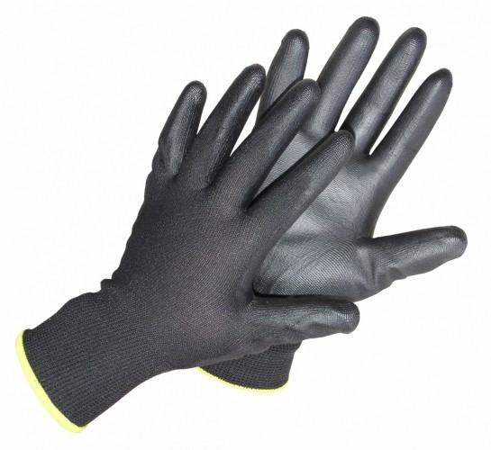 Pirštinės aplietos nitrilu juodos 5002G (8 dydis)