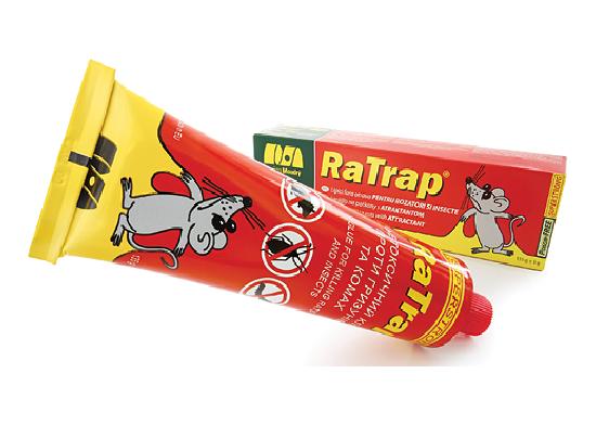 Klijai pelėms ir tarakonams RaTrap 135g