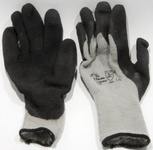 Pirštinės megztos aplietos lateksu žieminės LR273 (10 dydis)