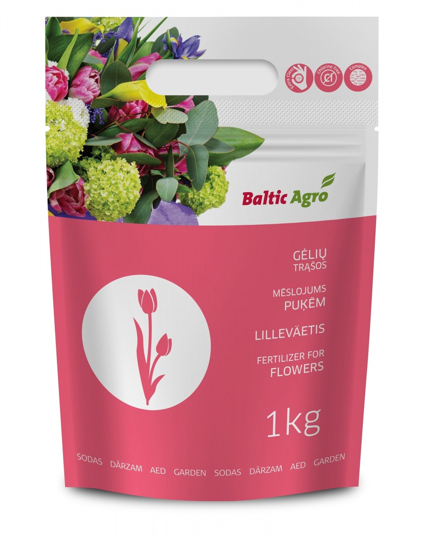 KEM trąšos gėlėms NPK 12-11-18 1kg (granuliuotos) (6)