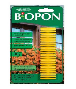 Biopon trąšų lazdelės balkono augalams (30vnt)