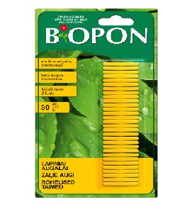 Biopon trąšų lazdelės lapiniams augalams (30vnt)