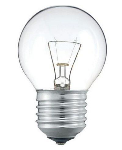 Elektros lemputė 230V 40W E27 P45 Iskra (skaidri)