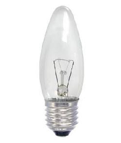 Elektros lemputė 230V 60W E27 Iskra (žvakutė skaidri)