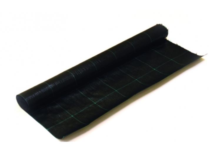 Agrotekstilė PP juoda 420cm 90g/m2 žaliais kvadratais 15x15cm UV stab.