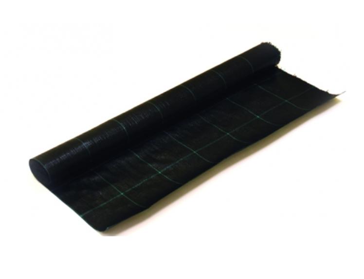 Agrotekstilė PP juoda 525cm 90g/m2 žaliais kvadratais 15x15cm UV stab.