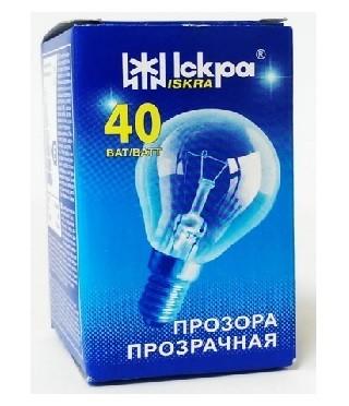 Elektros lemputė 230V 40W E14 Iskra (burbulas skaidrus)