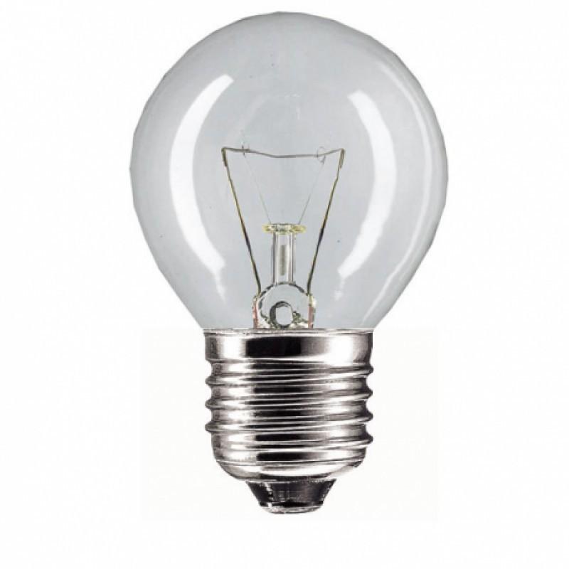 Elektros lemputė 230V 60W E27 P45 Iskra (burbulas skaidrus)
