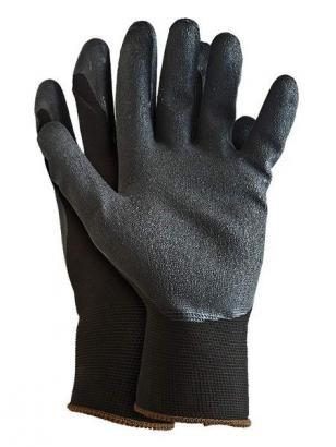 Pirštinės dengtos lateksu juodos PML750 L-3G (10 dydis)