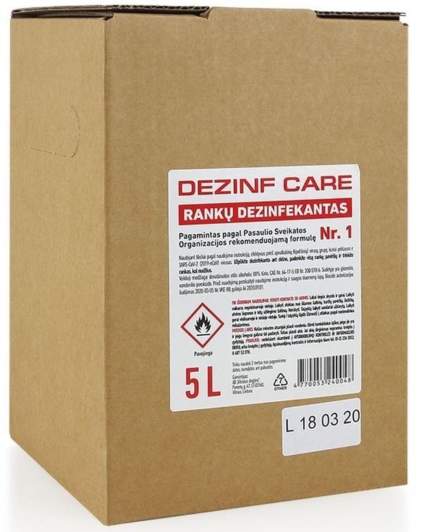 Rankų dezinfekavimo skystis Dezinfcare 5L