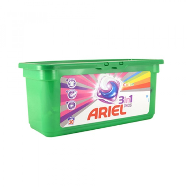 Skalbimo kapsulės Ariel Color 30vnt
