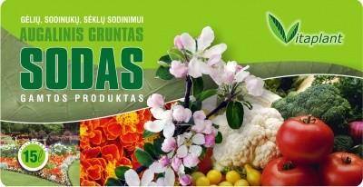 Substratas Vitaplant Sodas 15L